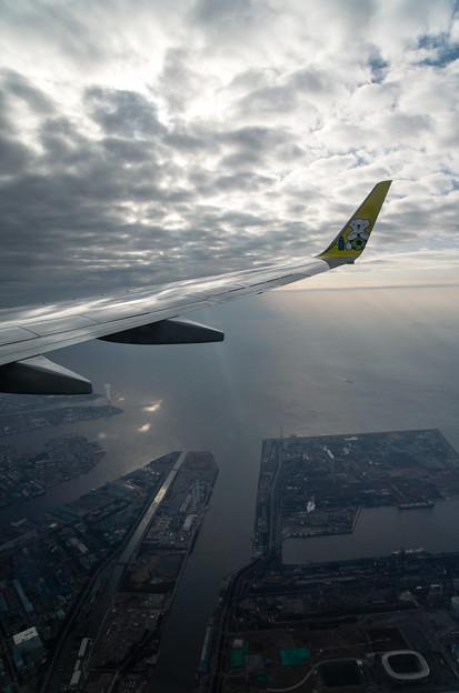 東京湾を臨む