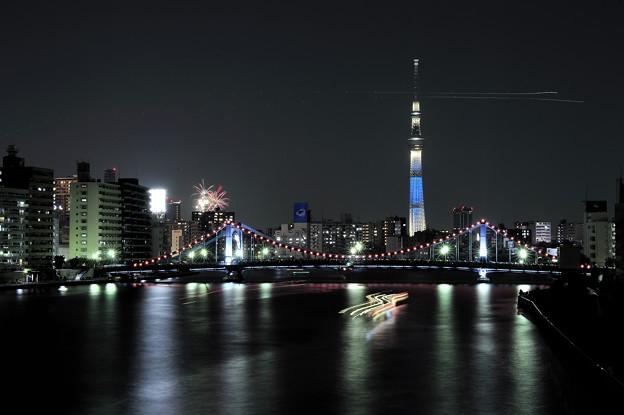清洲橋に咲く華