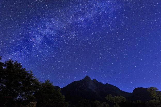 明神岳の天の川