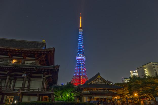 東京タワー【サッカー日本代表応援】ライトアップ