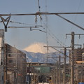 綺麗な富士山(JR横浜線より)