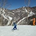 写真: 志賀高原なう。春スキーの陽...