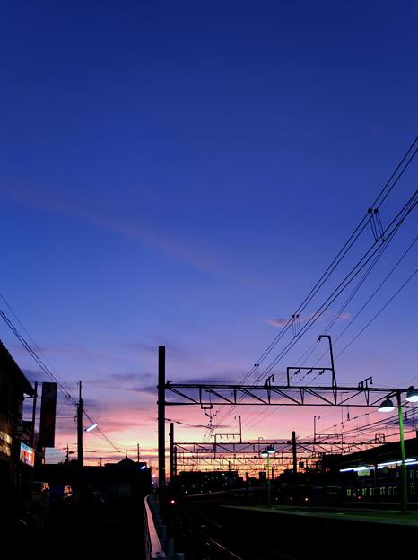 黄昏 桜上水 2012/08/29