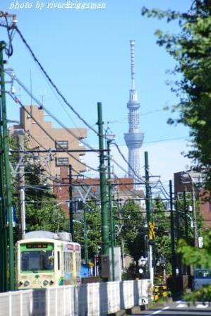 東京スカイツリーと荒川都電1