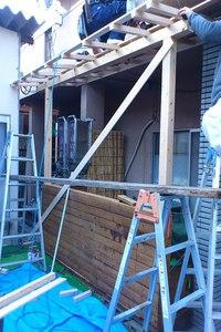 ウッドデッキ屋根