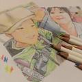色鉛筆で頑張ってみた。