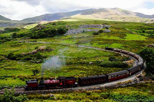 04.Welsh Highland Railway approaching Rhyd Ddu