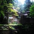 写真: 岩戸神社(石橋崩落中)